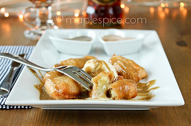 Beer Battered Banana Fritters with Salted Caramel or Toffee Sauce. Made with Banana Bread Beer!