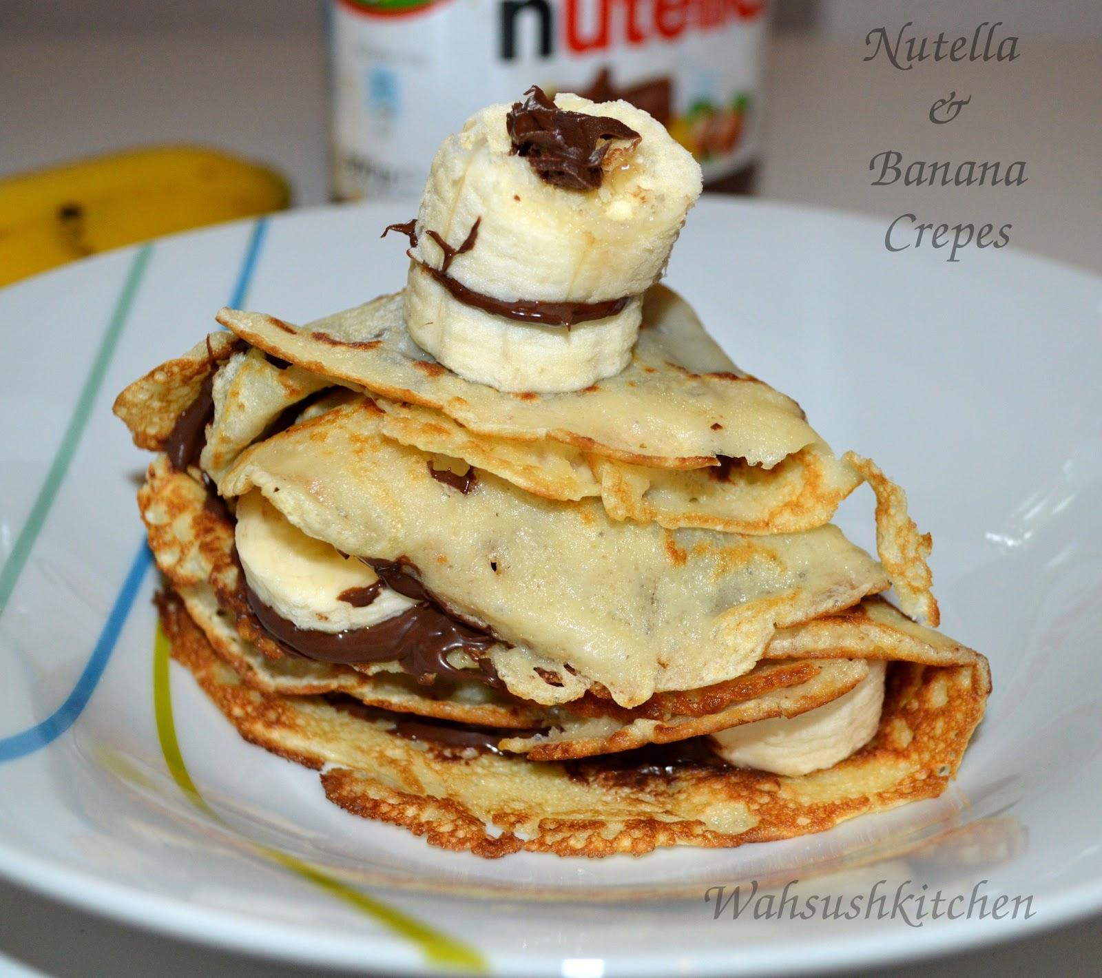 WahSush Kitchen: Nutella and banana crepes