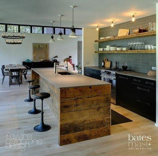Kleine Keukeneilanden : Keukeneiland Klein : Fantastisch keukeneiland van onbehandeld hout Ook