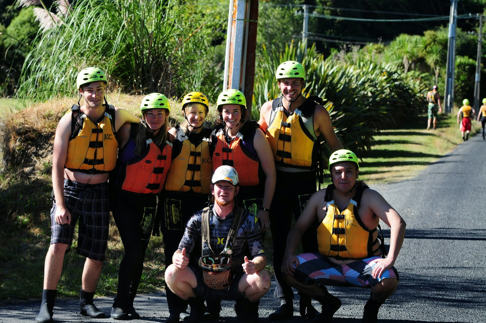 White water rafting team picture