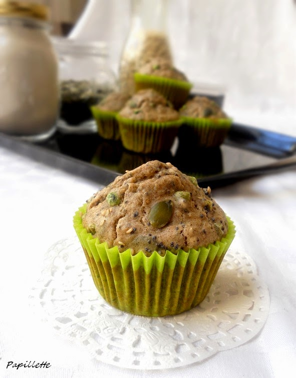 muffin salé graine petits pois