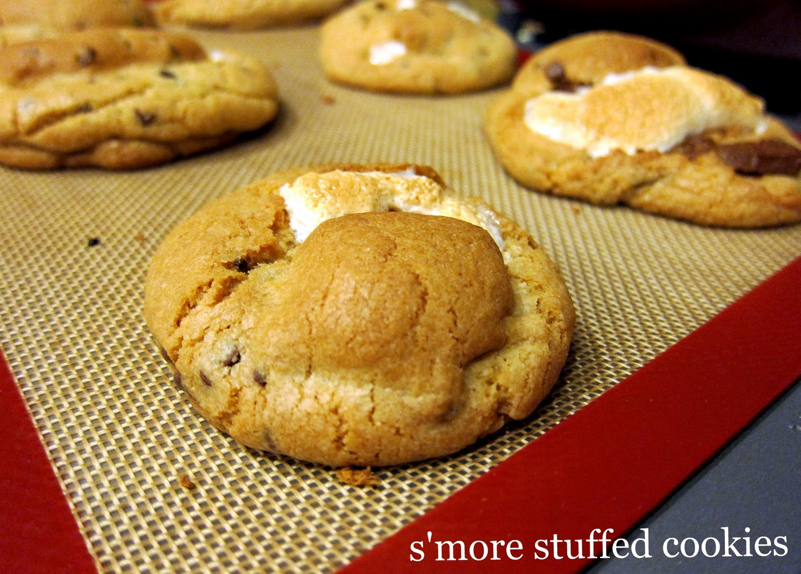 ... more? Awesome. Chocolate chip cookie? Yes. S'more...inside a cookie
