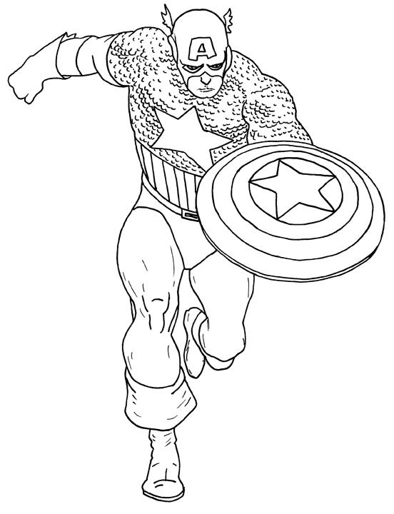 Captain America Color Pages