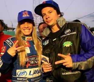 Alejandra Baigorria y Mario Hart en el Rally team de Ciclón - Caminos del Inca