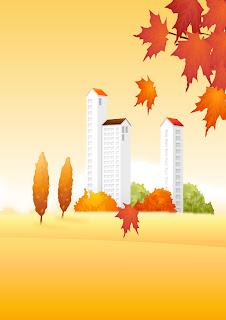 ciudad en otoño
