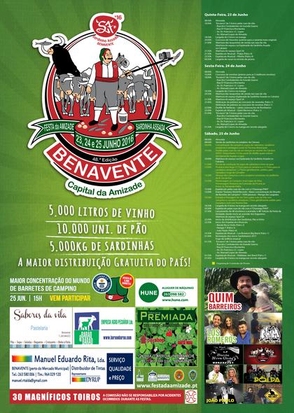 Benavente- 48ª Festa da Amizade & Sardinha Assada- 23 a 25 Junho