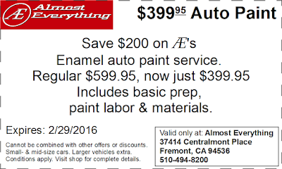 Coupon $399.95 Auto Paint Sale February 2016