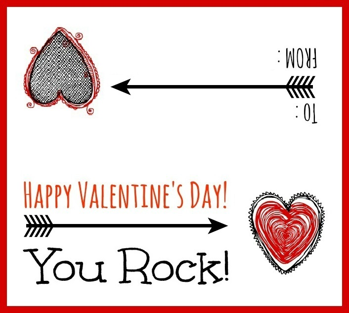 image about You Rock Valentine Printable called Discovering BonggaMom: Valentines Working day Printables: Yourself Rock!