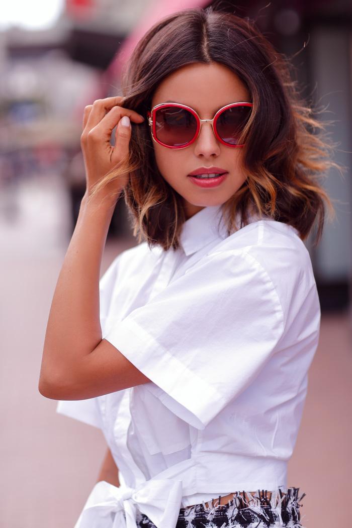SALVATORE FERRAGAMO Oversized round-frame sunglasses