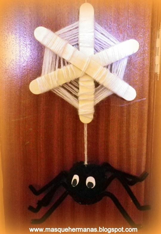 M s que hermanas como hacer una ara a de halloween - Como hacer tela de arana ...