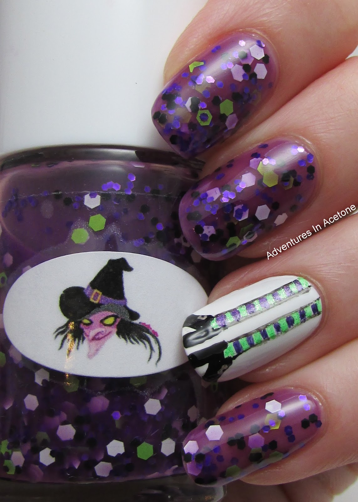 GIVEAWAY! The Nail Junkie Witch, Frankenstein, and Candy Corn Nail ...