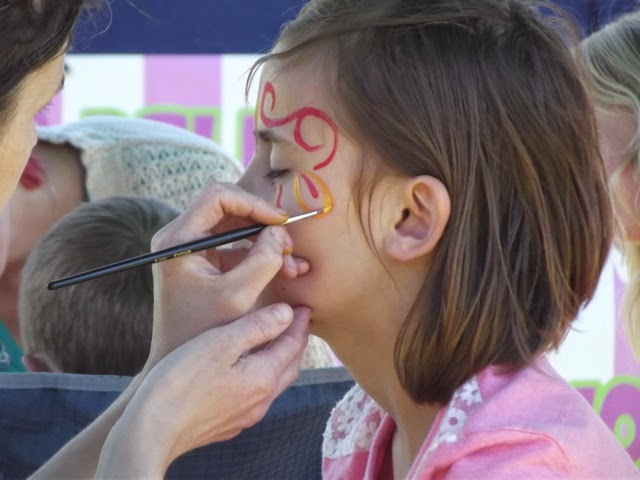 Langdale Gala 2014 face paint