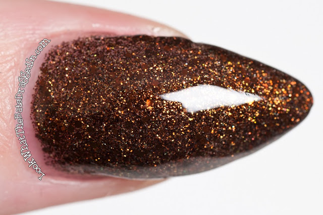Cirque colors French Roast nail polish swatch manicure macro closeup