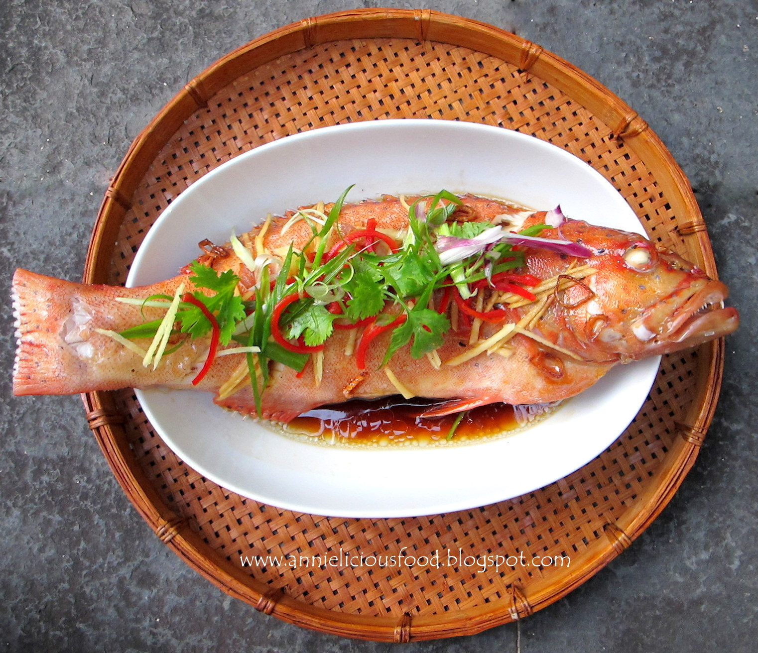 Annielicious Food: Canto Style Steamed Red Grouper (清蒸红石斑)