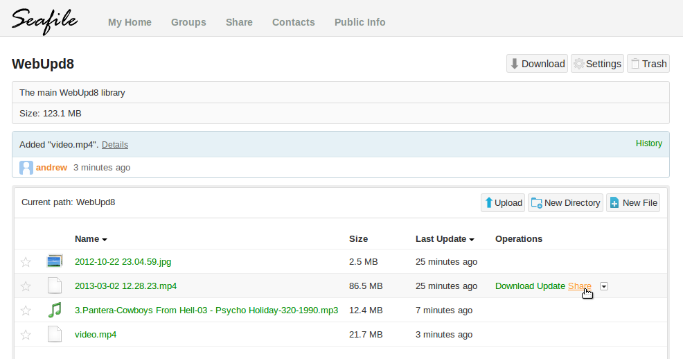 dropbox like cloud sync and collaboration tool seafile