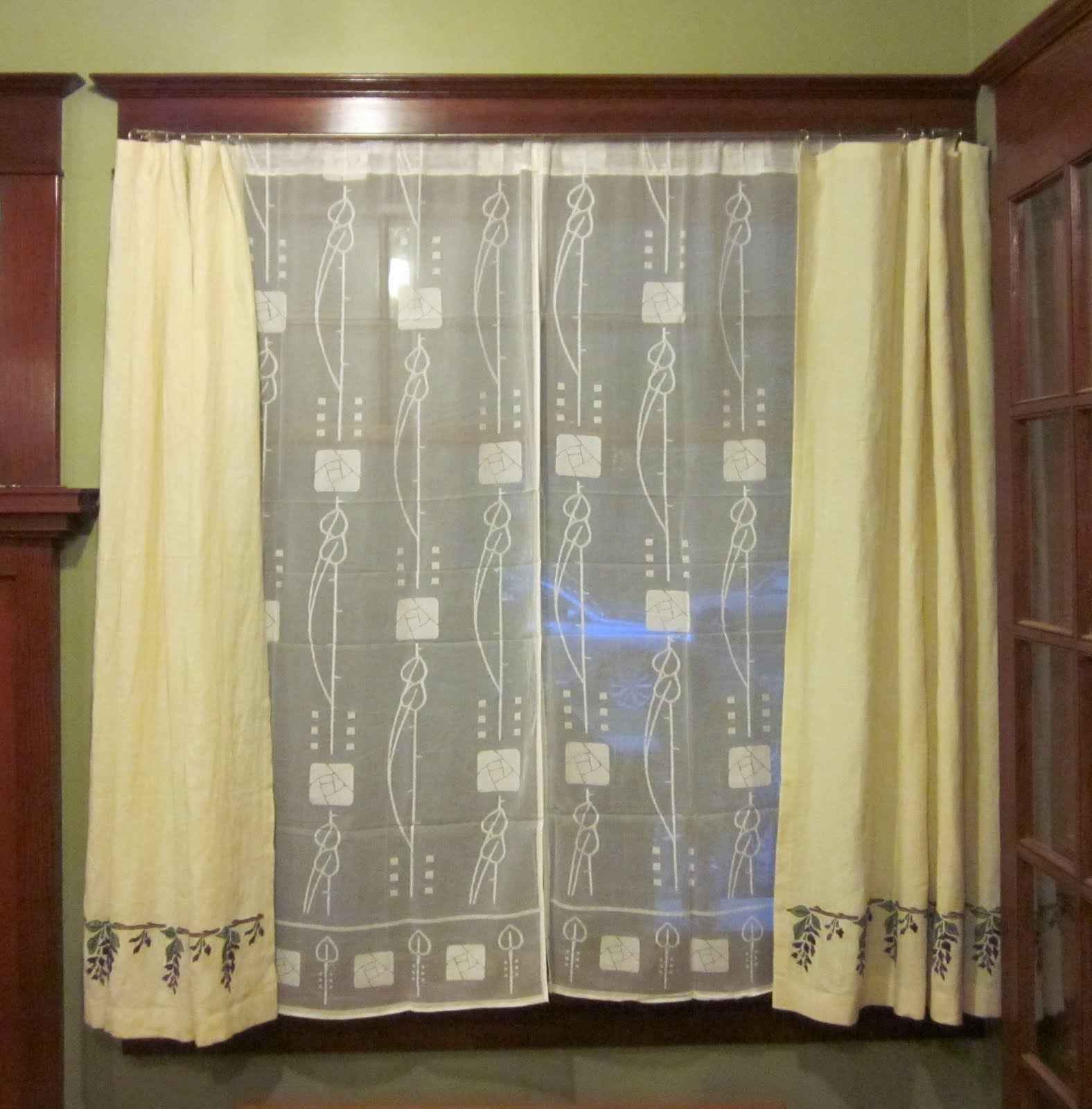 Laurelhurst Craftsman Bungalow Lace Curtains