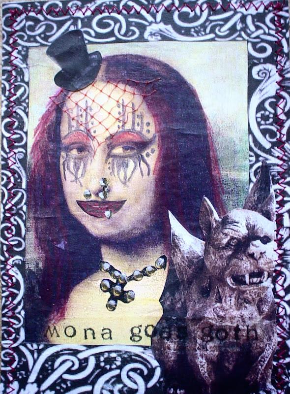 Backside of my postcard. Eyeglassesnew dollar stamp from Joann's. I  title=