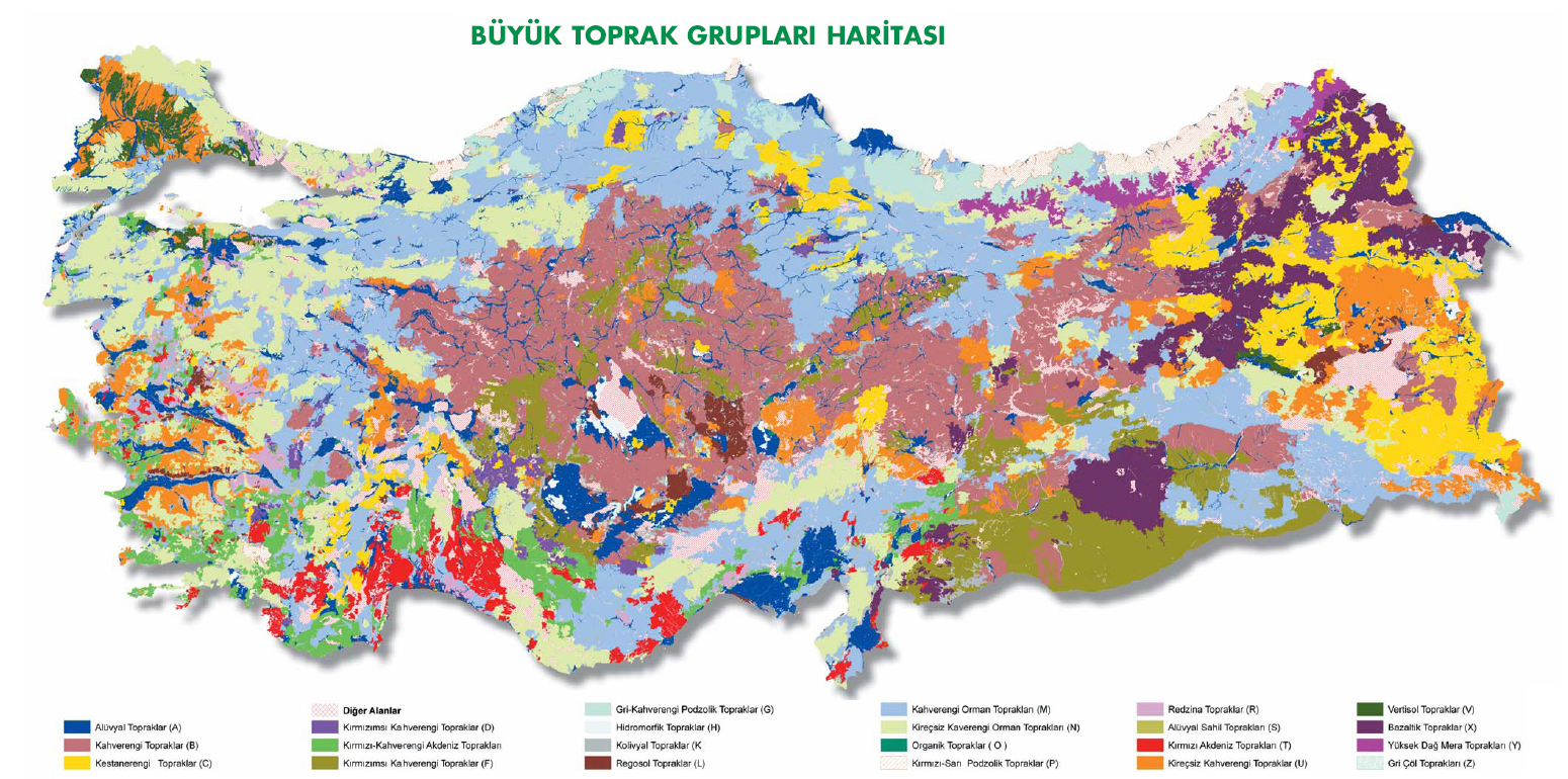 Turkey Physical Map