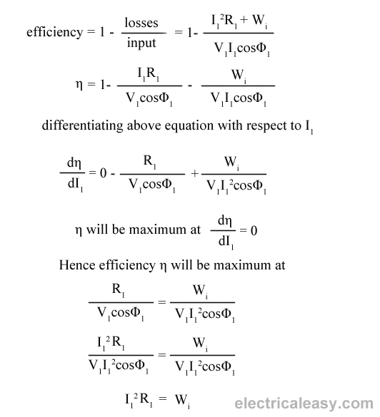 efficiency of transformer