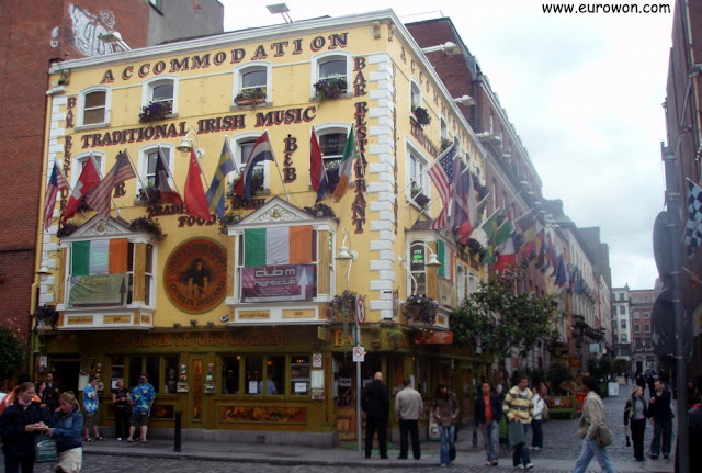 The Oliver St John Gogarty Pub, uno de los clásicos de Temple Bar