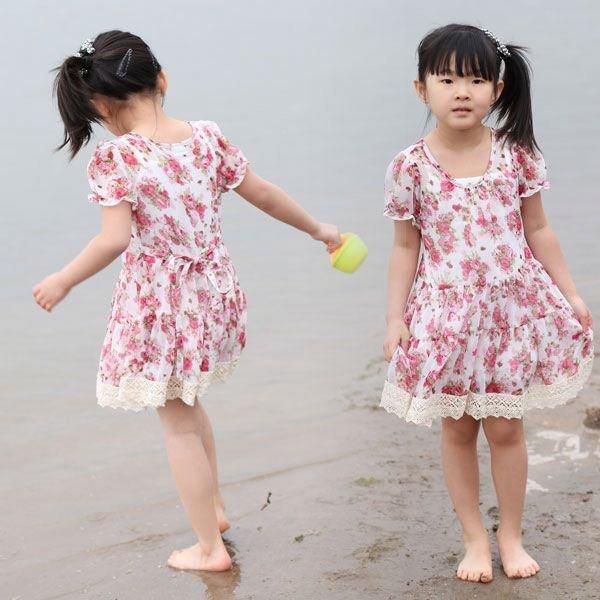 Kids girls frock dresses little girls children fashion dresses new