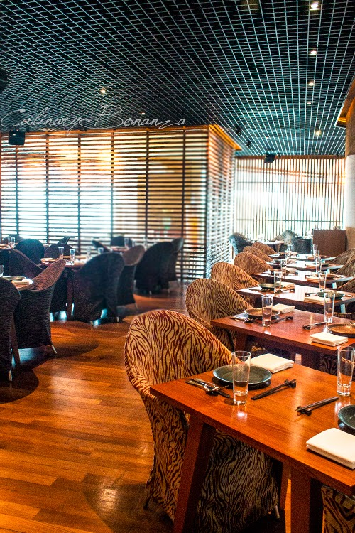One of the dining areas at C's Steak & Seafood, Grand Hyatt Jakarta
