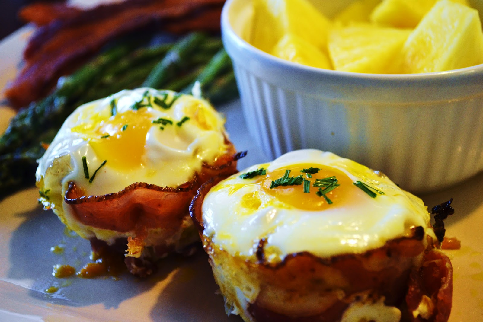 Paleo & Wine: Prosciutto Egg Cups with Sweet Potatoes and Chives