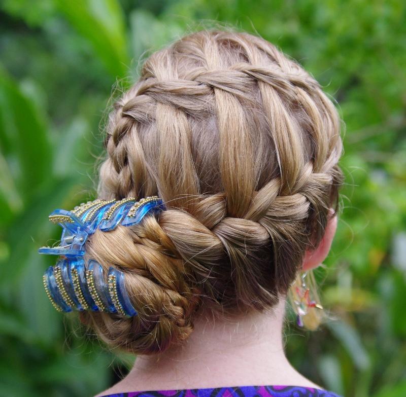 hairstyles master waterfallfrench braid updo