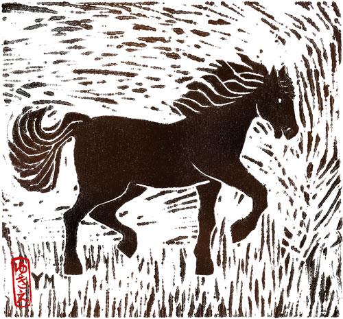 Horse by Yukié Matsushita