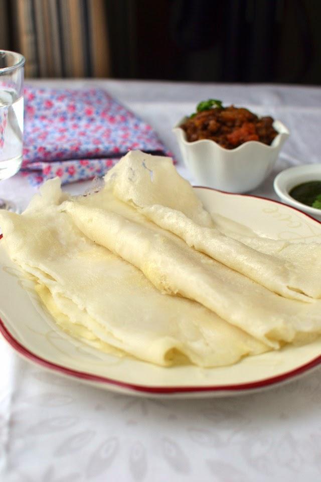 Chhattisgarh -- Chila (Rice flour Crepes)