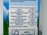 Diferentes fabricantes de la leche semidesnatada sin lactosa Hacendado de Mercadona.