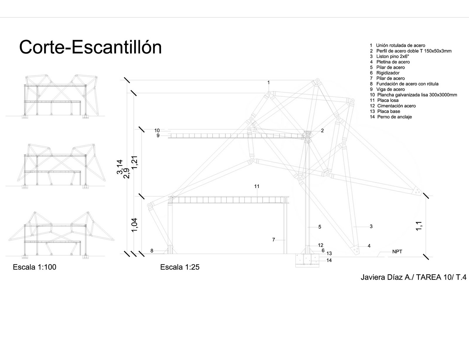 ESTRUCTURA-MATERIAL /Taller 4 Escuela de Arquitectura Universidad ...