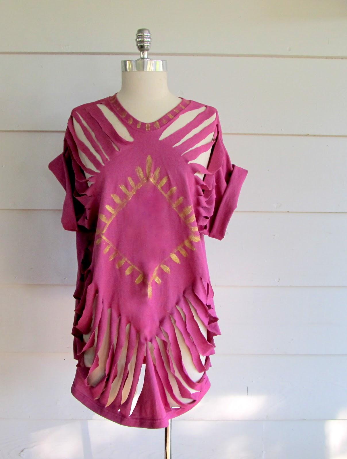 Wobisobi no sew tee shirt beach cover up 2 diy for Beach shirt cover up