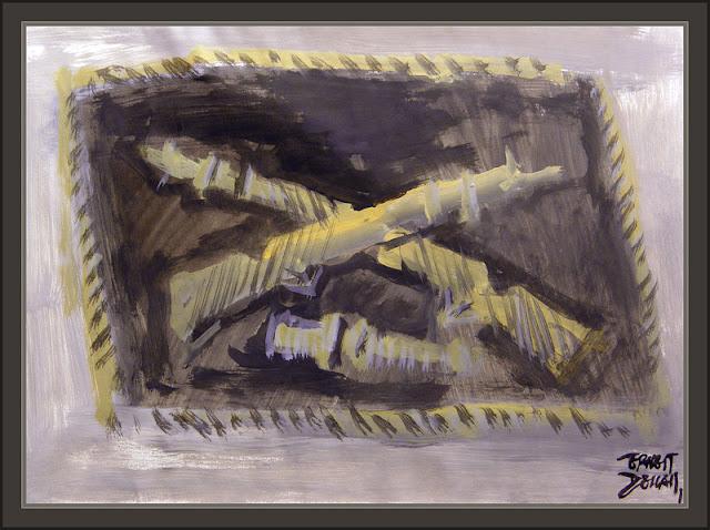 DIRLEWANGER-WAFFEN-SS-WW2-BRIGADE-BRIGADA-ART-ARTE-PINTURA-SEGUNDA GUERRA MUNDIAL-INSIGNIAS-PINTOR-ERNEST DESCALS-