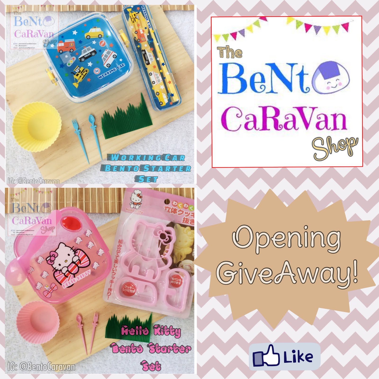 Join The Bento CaraVan Shop Opening GiveAway!