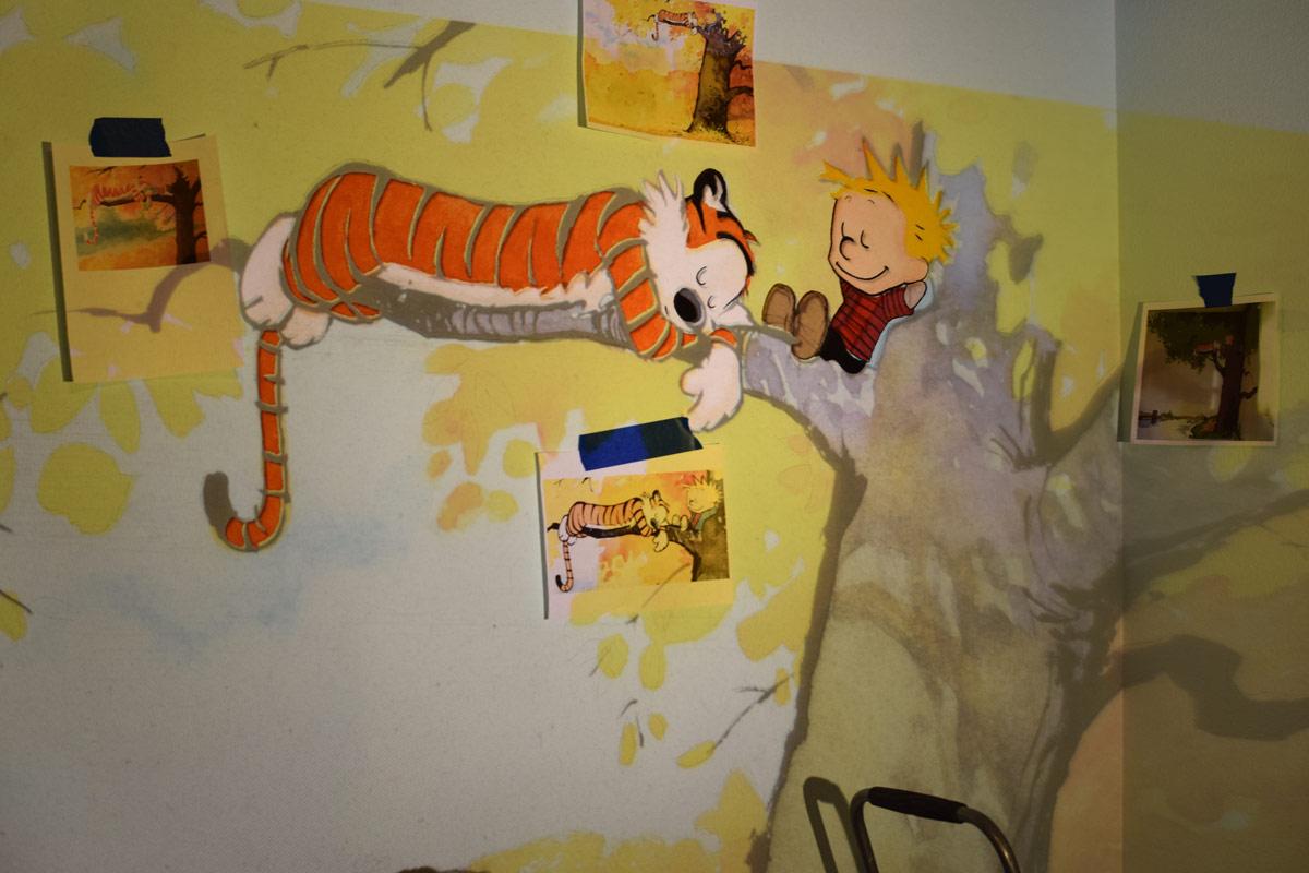 Calvin and Hobbes Nursery Mural