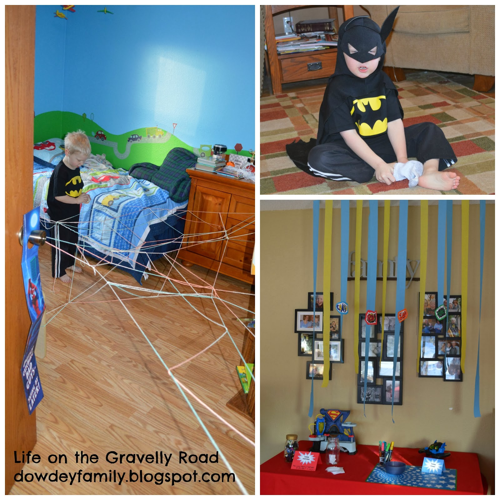 getting ready for a super hero birthday