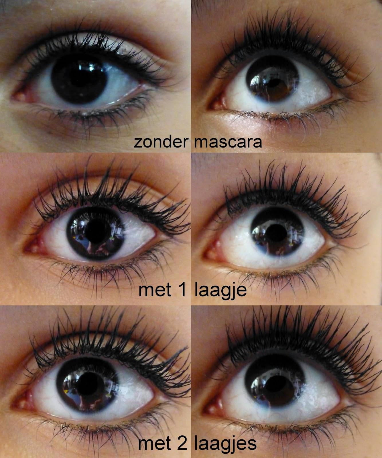 Mascara aanbrengen zonder klontjes