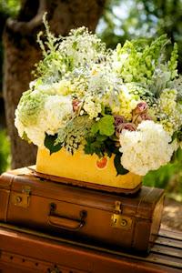 Suitcase as floral vase!
