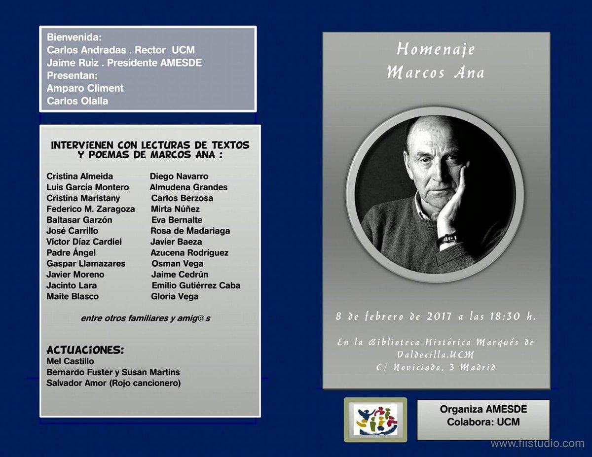 8 febrero Homenaje a Marcos Ana