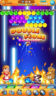 Screenshots of the Bubble story for Android tablet, phone.