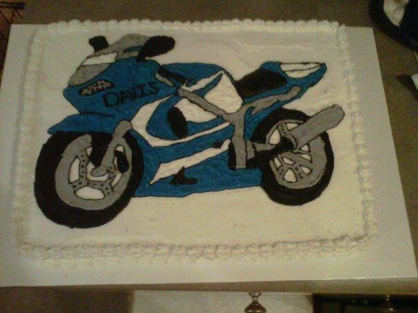 Motorcycle Sheet Cake On Pins Needles