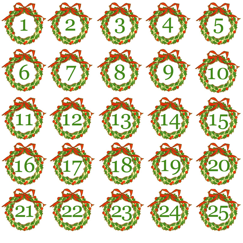 Calendar Number Printables : Advent calendar number new template site
