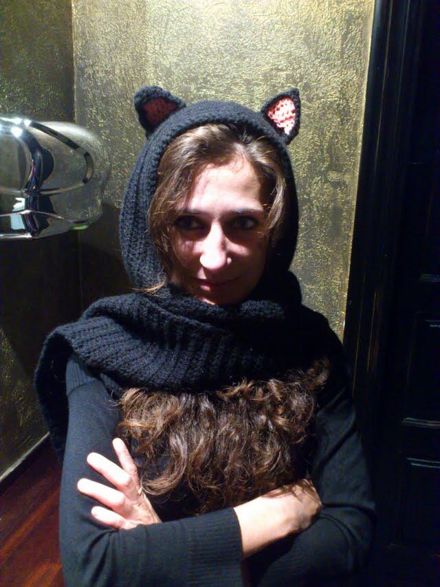 arMi-arMa: Blog: Bufanda con capucha y orejas de gato