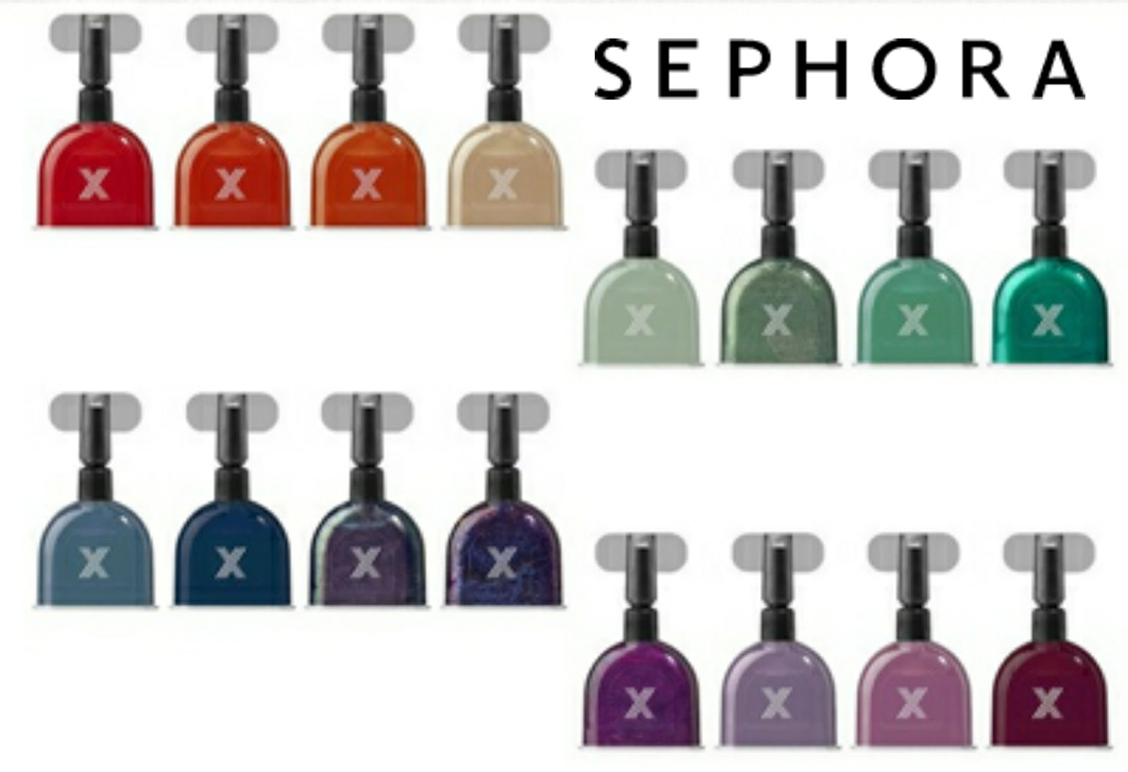 Sephora Formula X Press Pod Sample Polish Collections