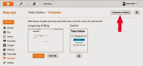 memasang template baru
