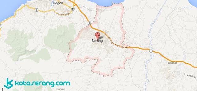 Daftar Kecamatan, Kelurahan / Desa dan Kode Pos Kota Serang