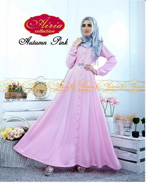 Gambar contoh dress muslim pesta model terbaru