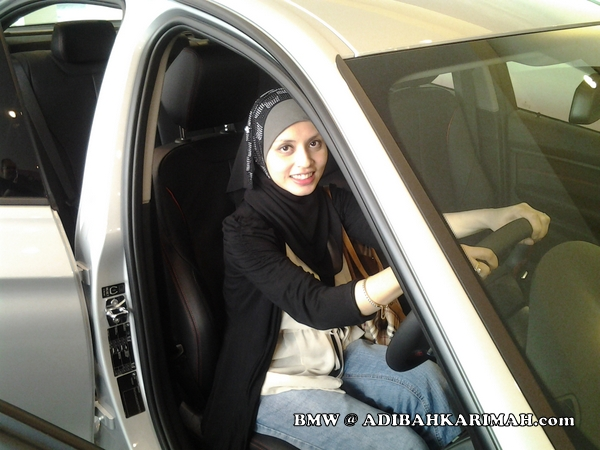 Adibah Karimah a premium beautiful Green Leaders group at BMW to test drive new F30