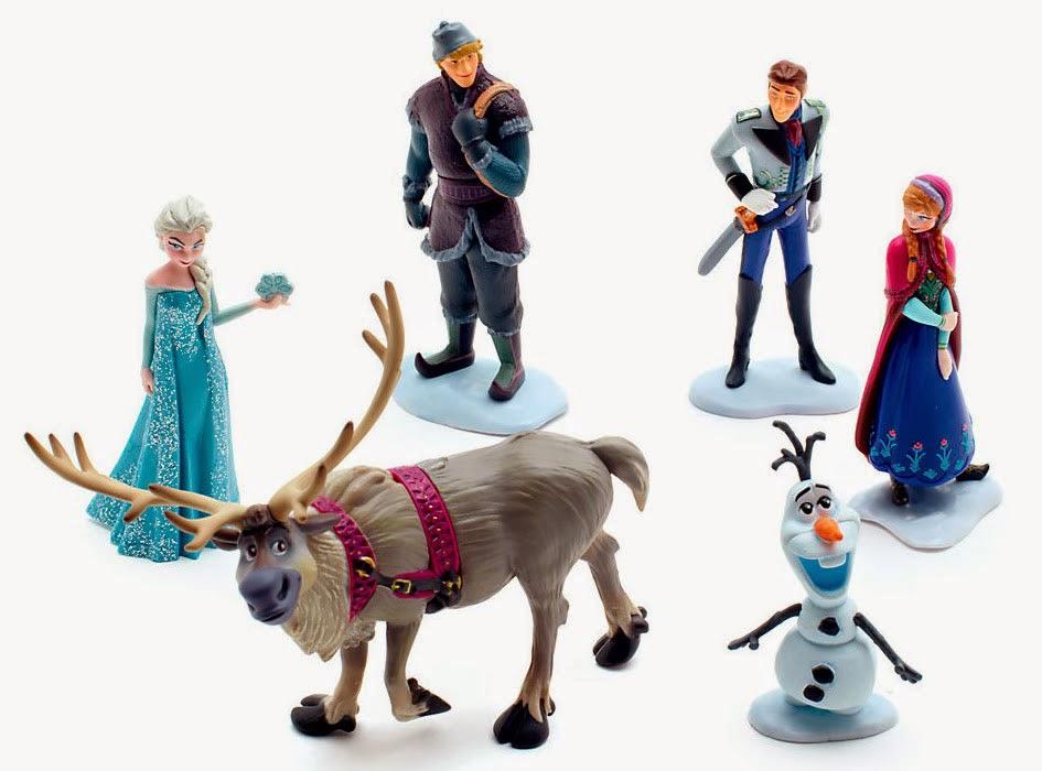 Figuras PVC Frozen El Reino de Hielo